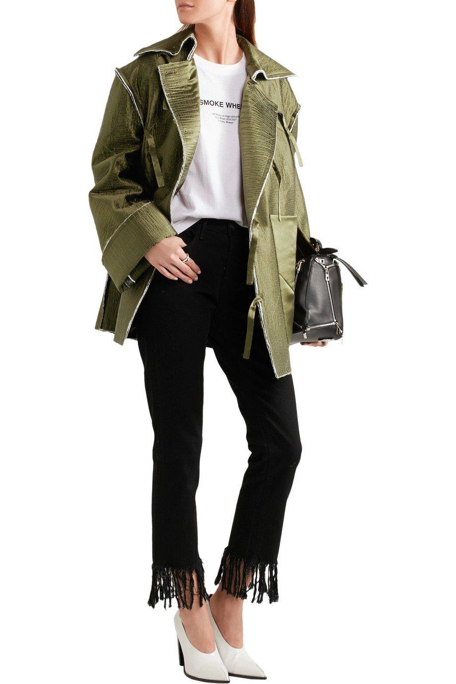пиджак оверсайз цвета хаки женский 2018 фото новинки