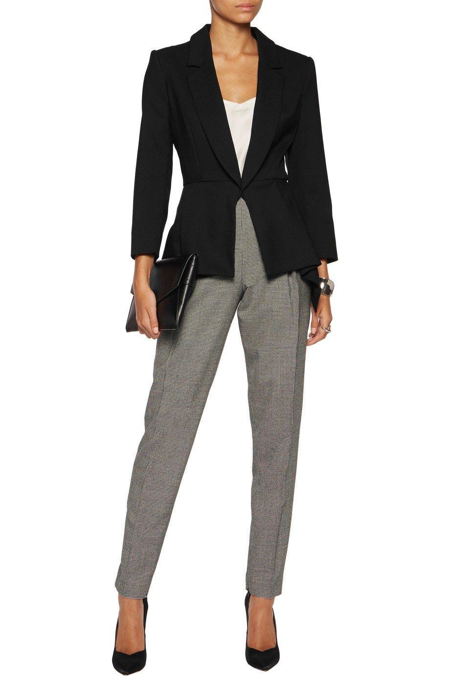 черный женский пиджак женский на одной пуговице 2018 года фото новинки модные тенденции