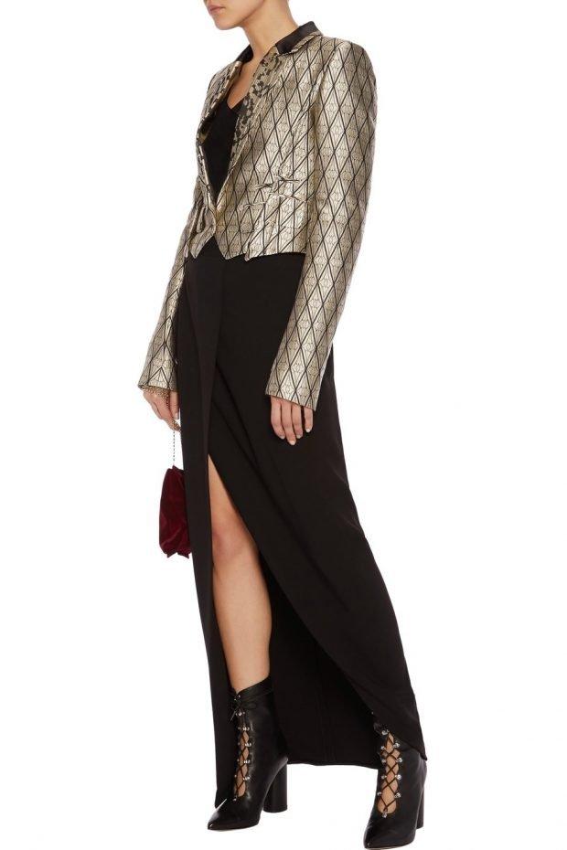модные женские пиджаки 2021: блестящий