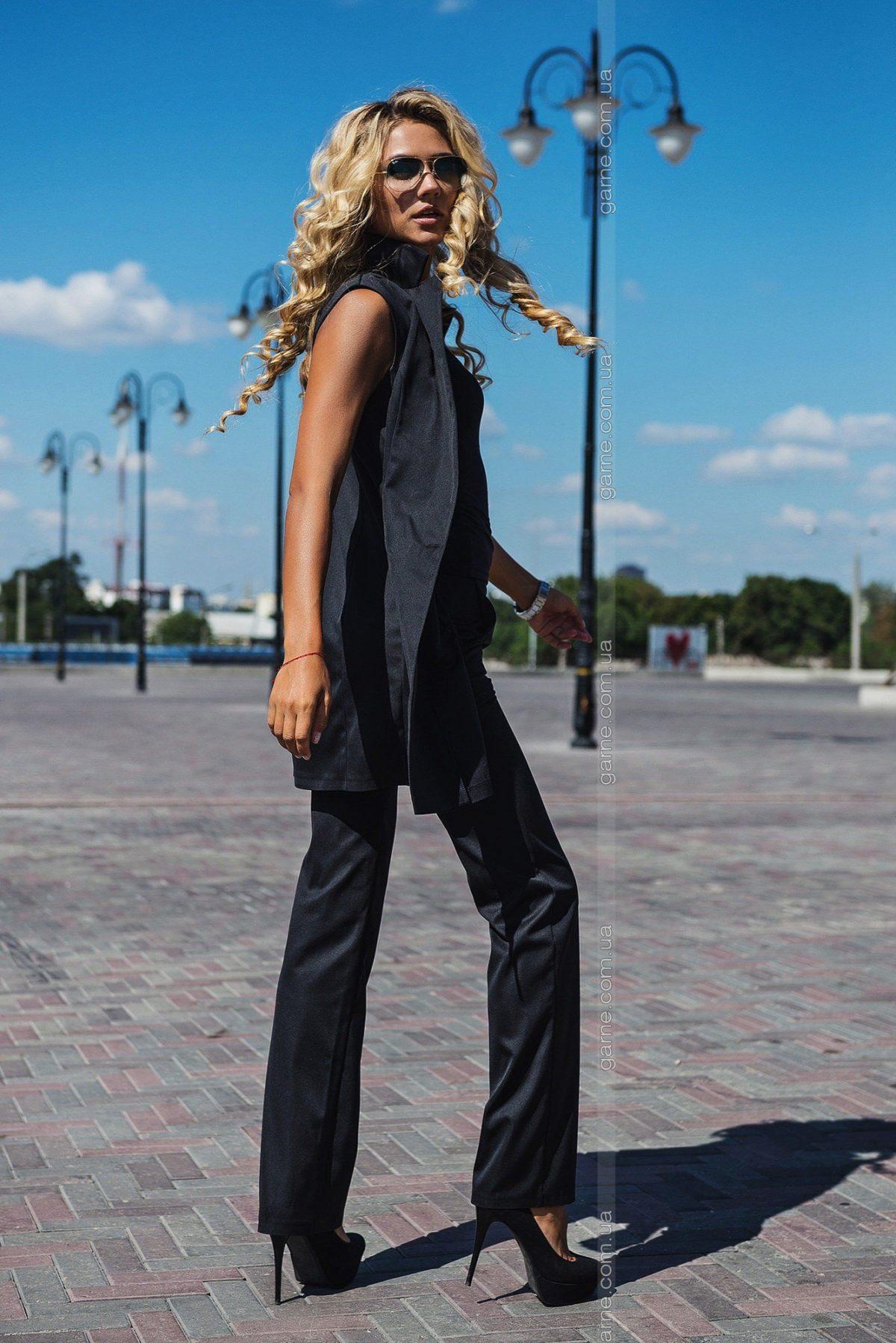 женский пиджак без рукавов без застежки 2018