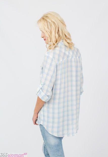 женские удлиненные рубашки клетка