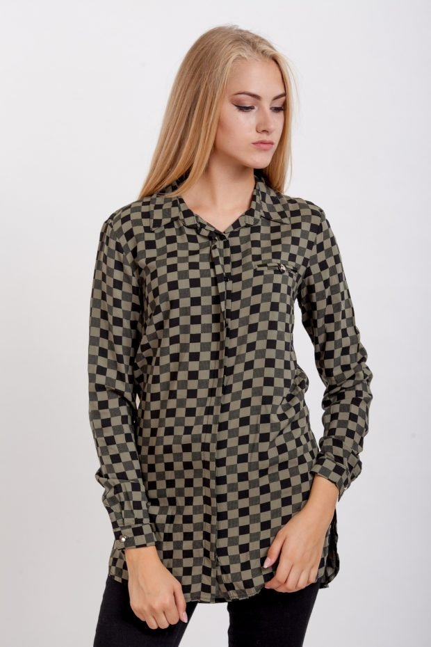 женские рубашки клетка модные тенденции