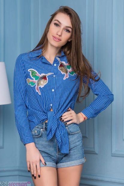 женские рубашки модные тенденции клетка свободный крой