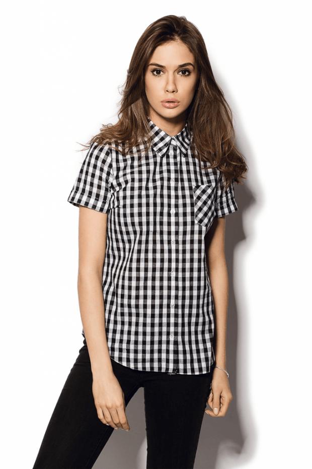 женские рубашки модные тенденции в клетку