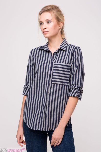 модные тенденции в женских рубашках в полоску