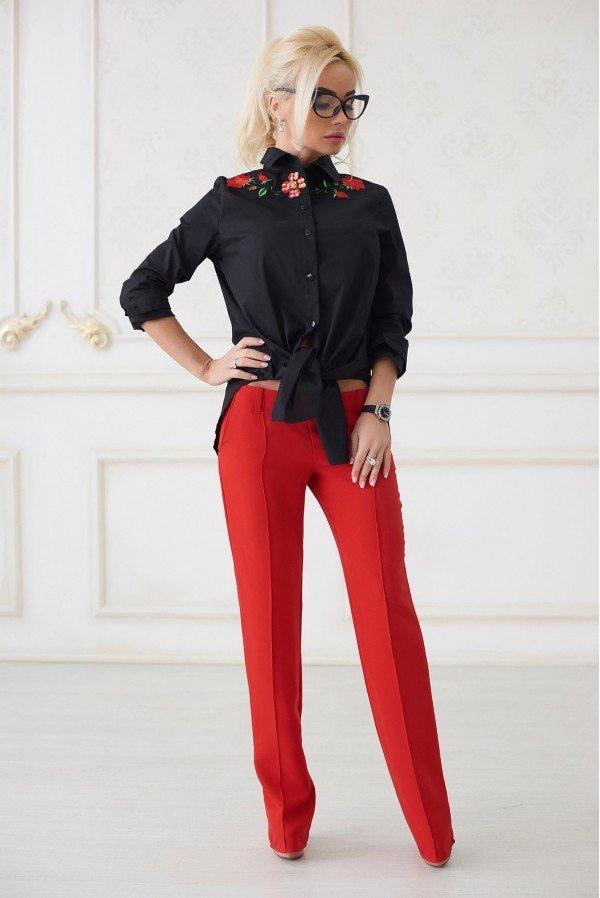 модные тенденции в женских рубашках черная с вышивкой