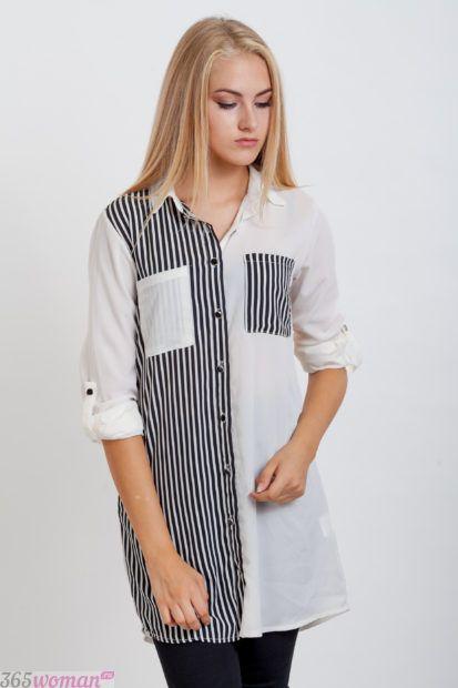модные женские рубашки 2018 белая черная полоска фото модные тенденции