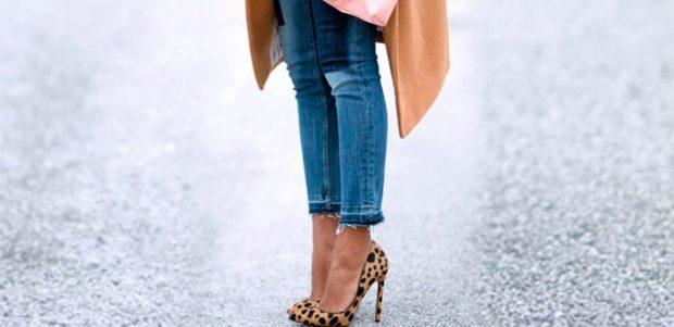 укороченные брюки с обувью
