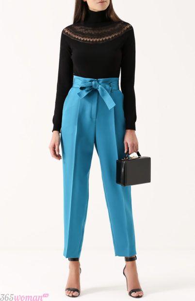 с чем носить укороченные брюки бананы