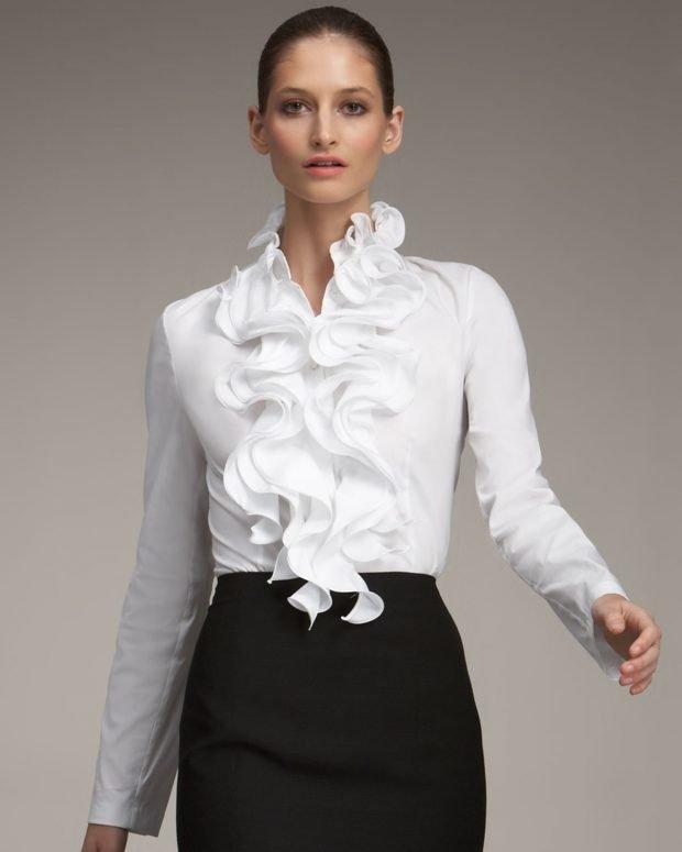 белая нарядная с воланами