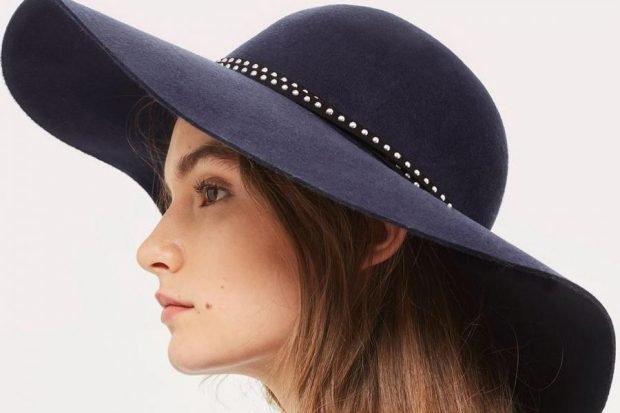 широкополая шляпка с декором