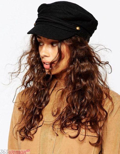 черная женская кепка