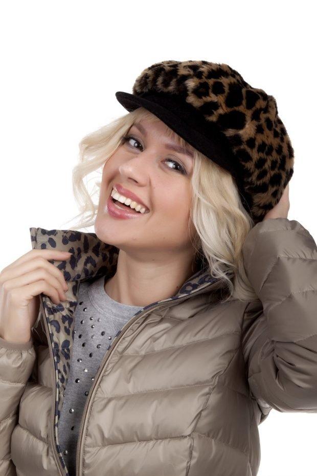 леопардовая кепка гаврош