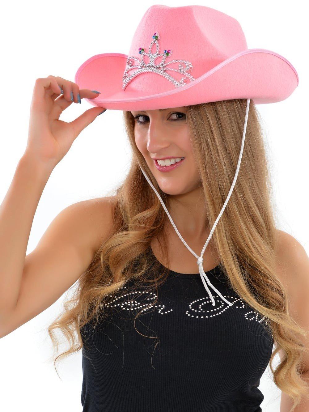 розовая ковбойская шляпа