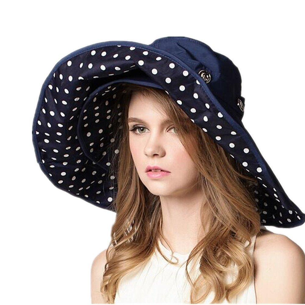 широкополая шляпа с рисунком в горошек