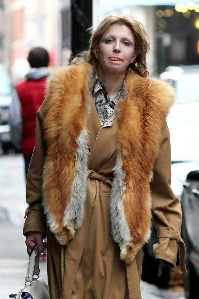 с чем носить объемный меховой жилет из лисы