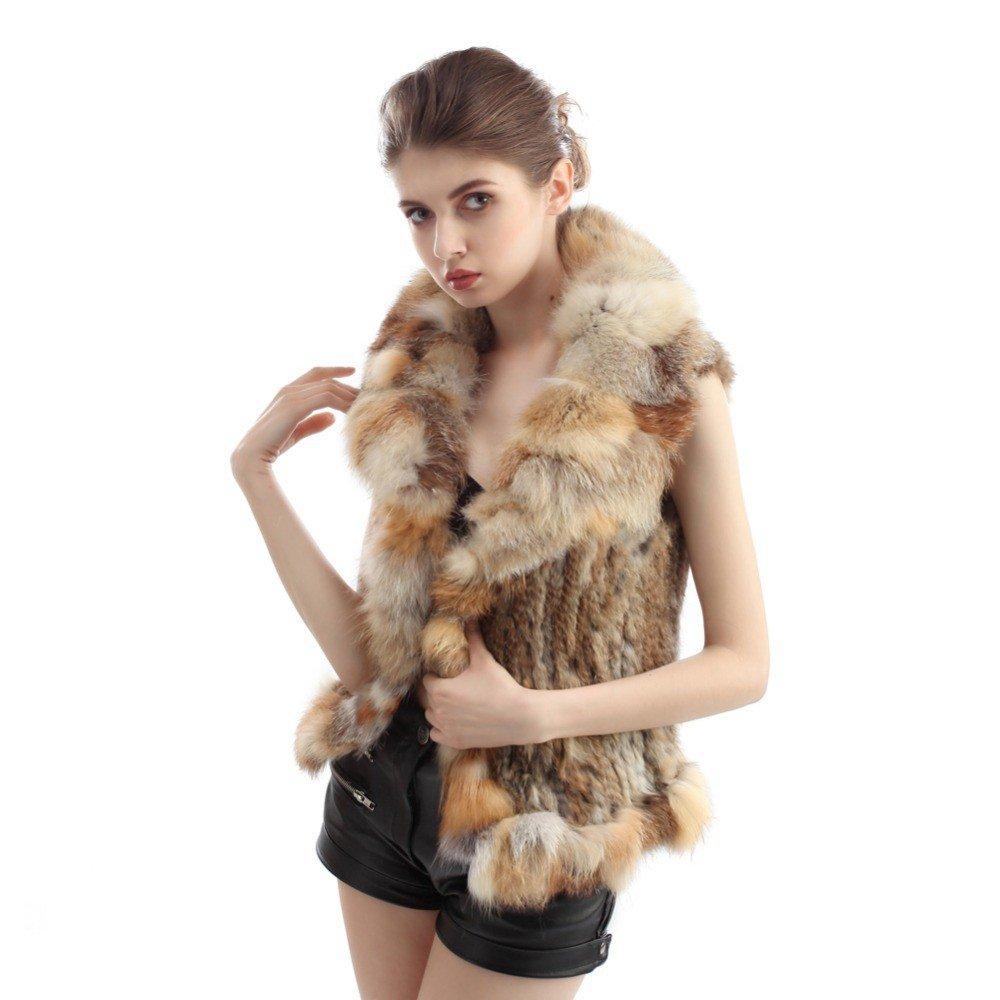 с чем носить короткий меховой жилет из кусочков