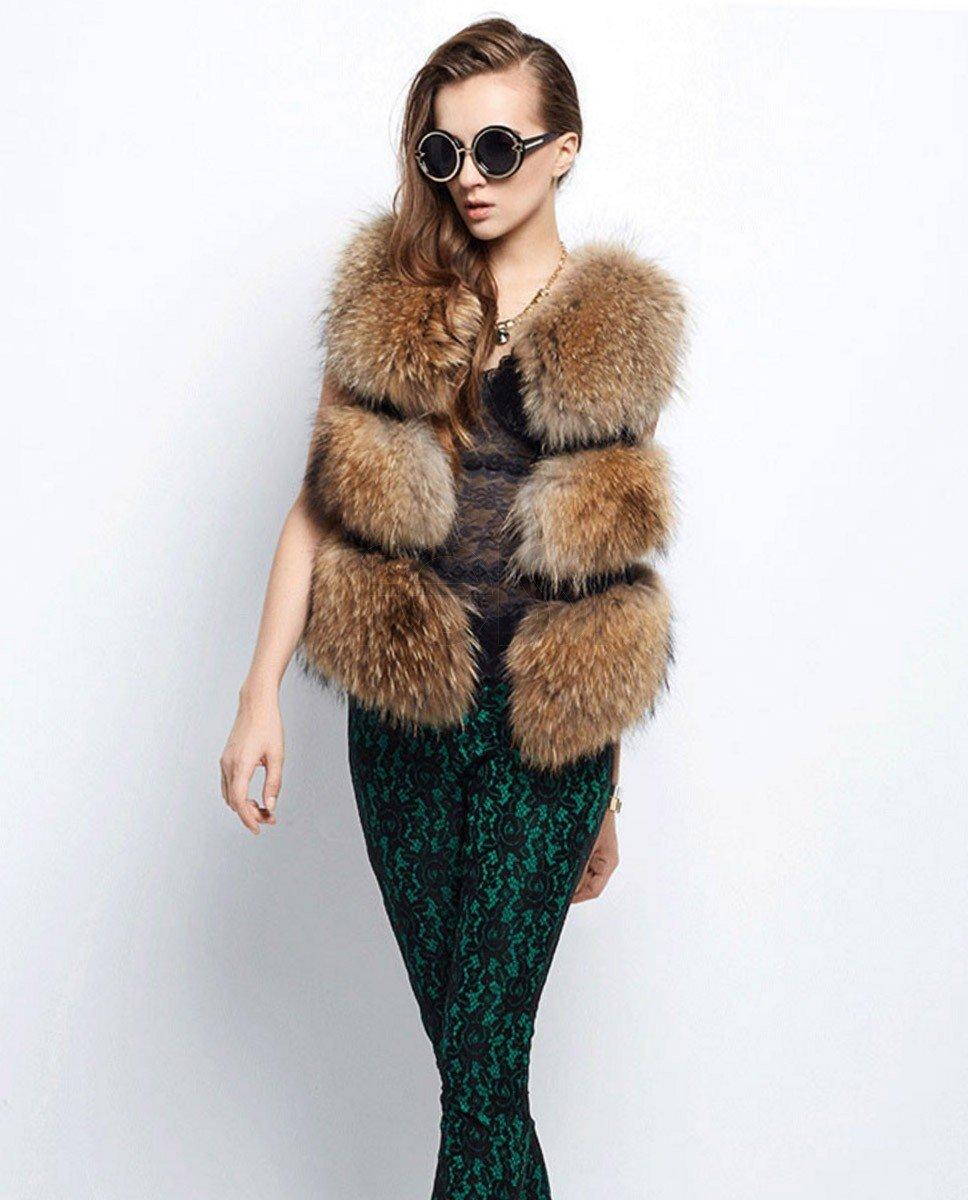 с чем носить объемный меховой жилет