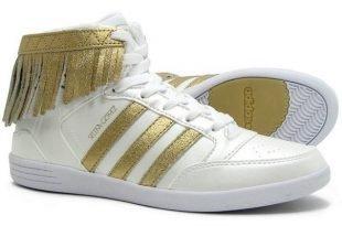 высокие кроссовки белые с золотом