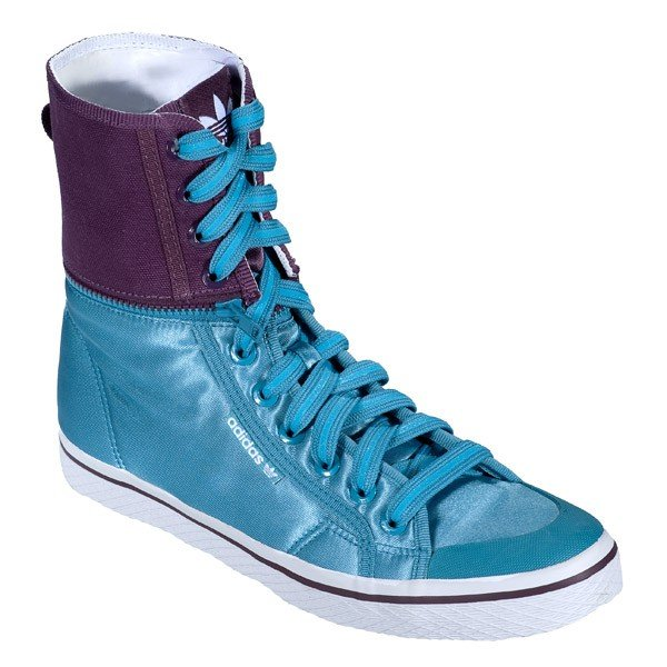 голубые высокие кроссовки
