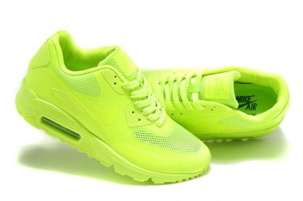 салатовые кислотные кроссовки