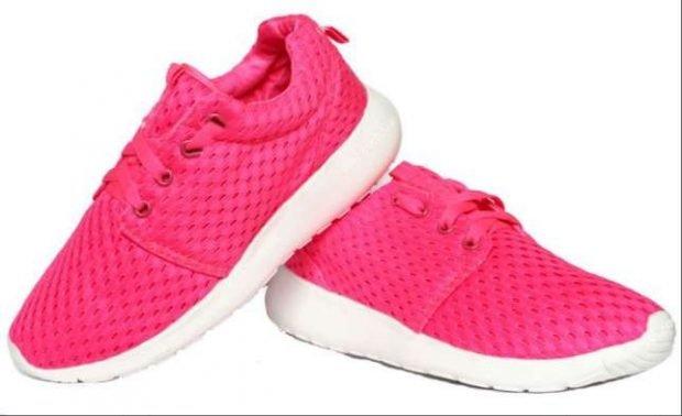 розовые кислотные кроссовки