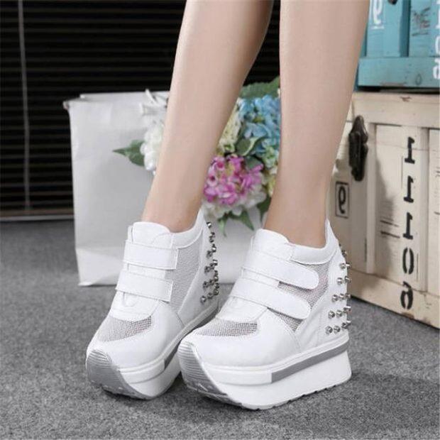 модные женские кроссовки 2019 2020: на высокой платформе