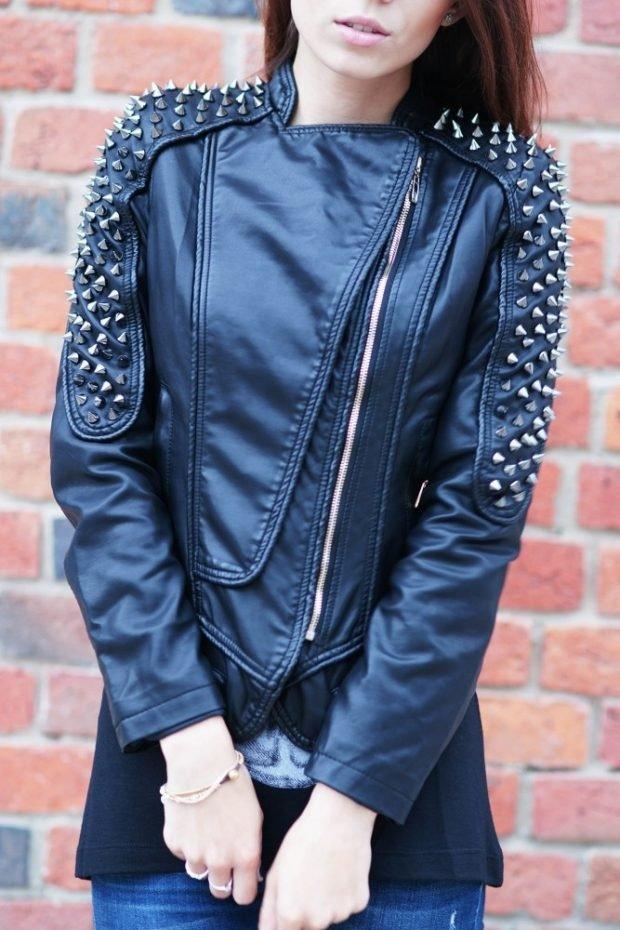 куртка косуха в бунтарском стиле