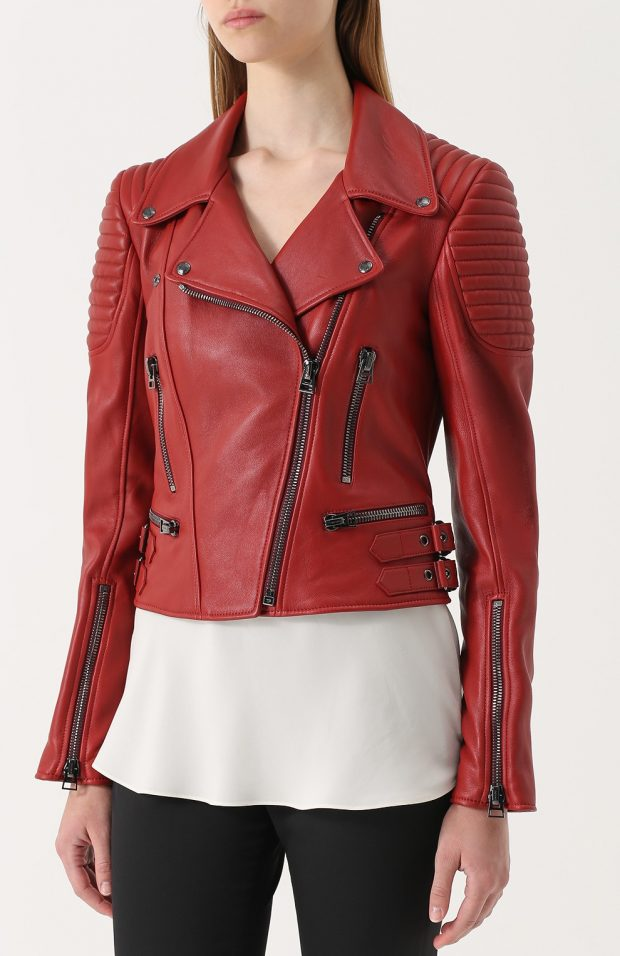 бордовая куртка косуха