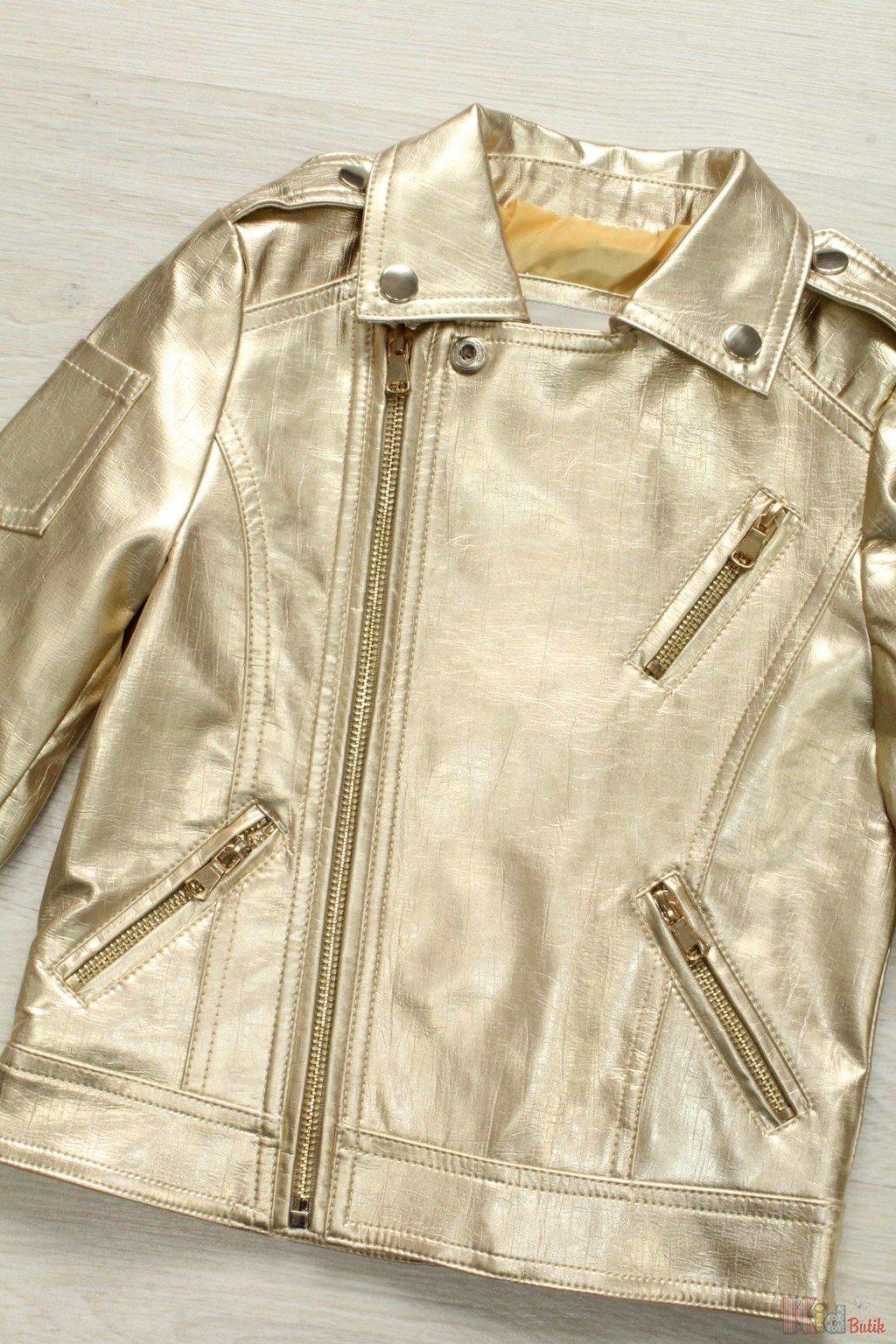 куртка косуха золотистого цвета