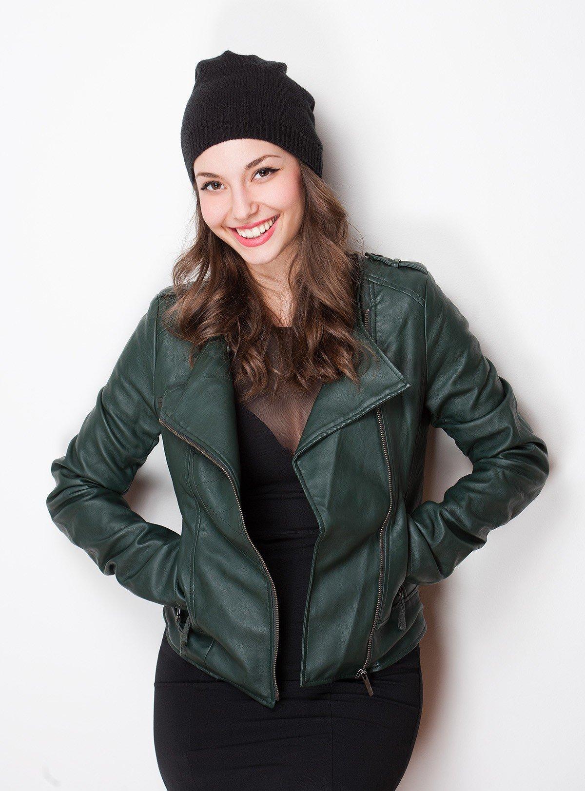 куртка косуха зеленого цвета