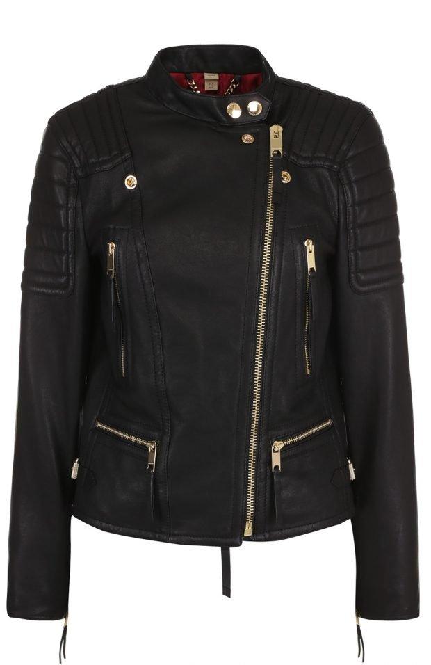 черная куртка косуха декорированная молниями
