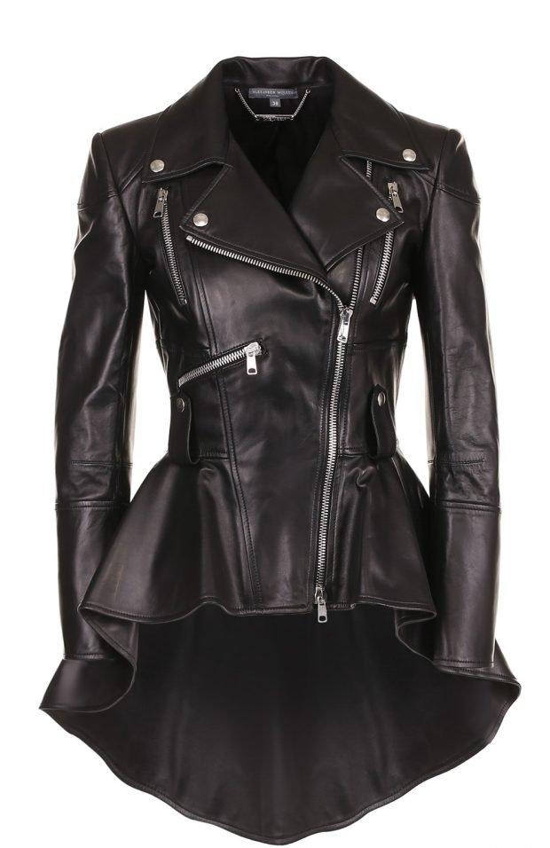 удлиненная куртка косуха черная
