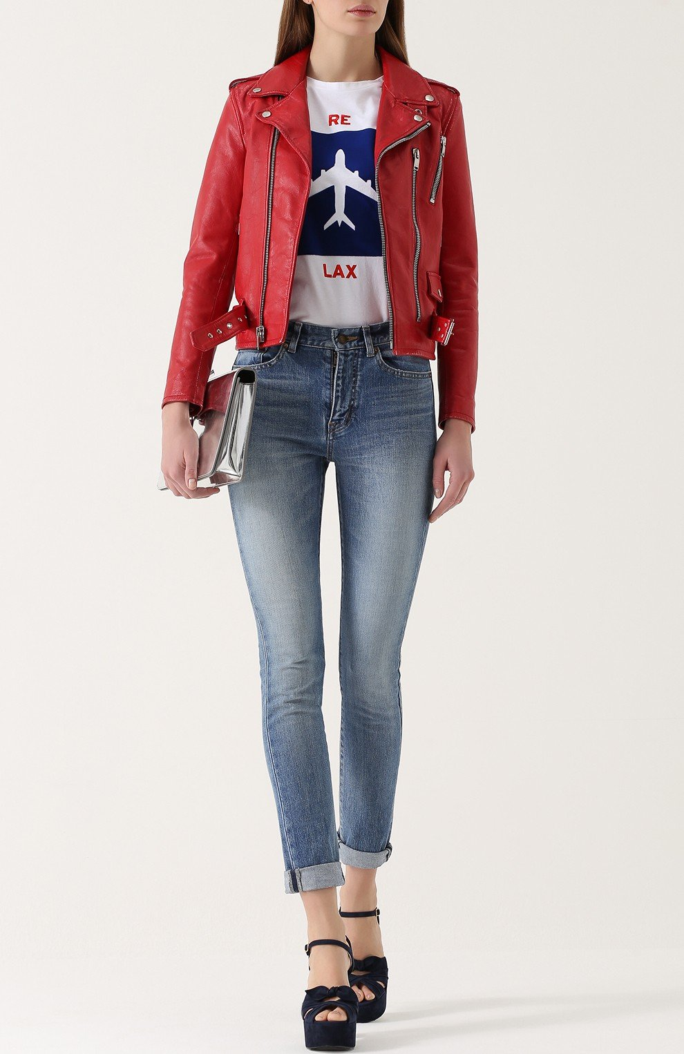 куртка косуха красного цвета
