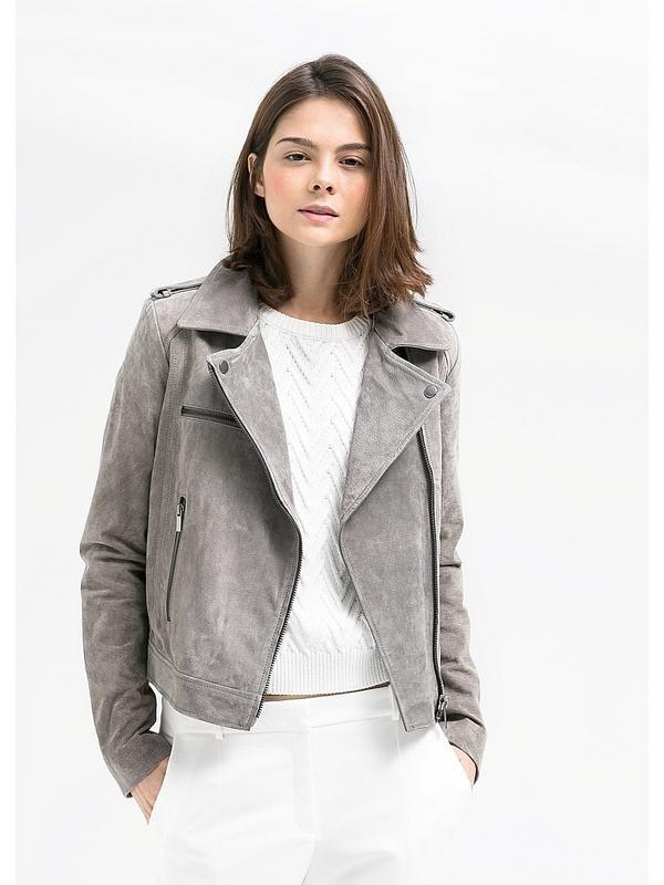 серая куртка косуха