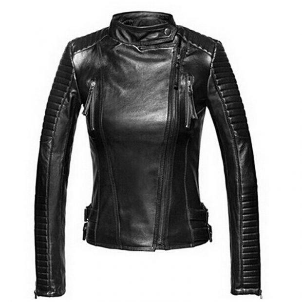 черная кожаная куртка косуха