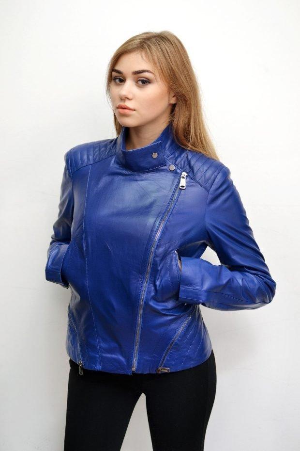 Куртки косухи 2019 2020: синяя