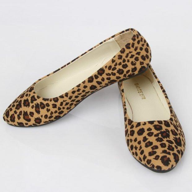 балетки леопардовый принт