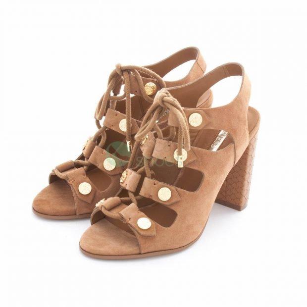 гладиаторские сандалии на каблуке