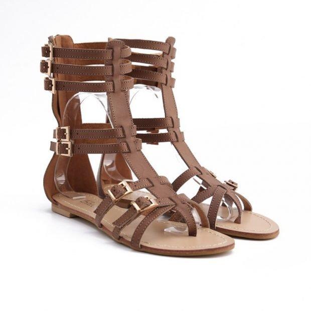 высокие гладиаторские сандалии
