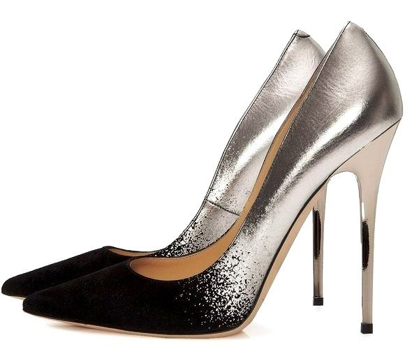 черно-серебристые туфли