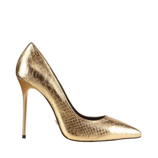 туфли-лодочки золотистого цвета