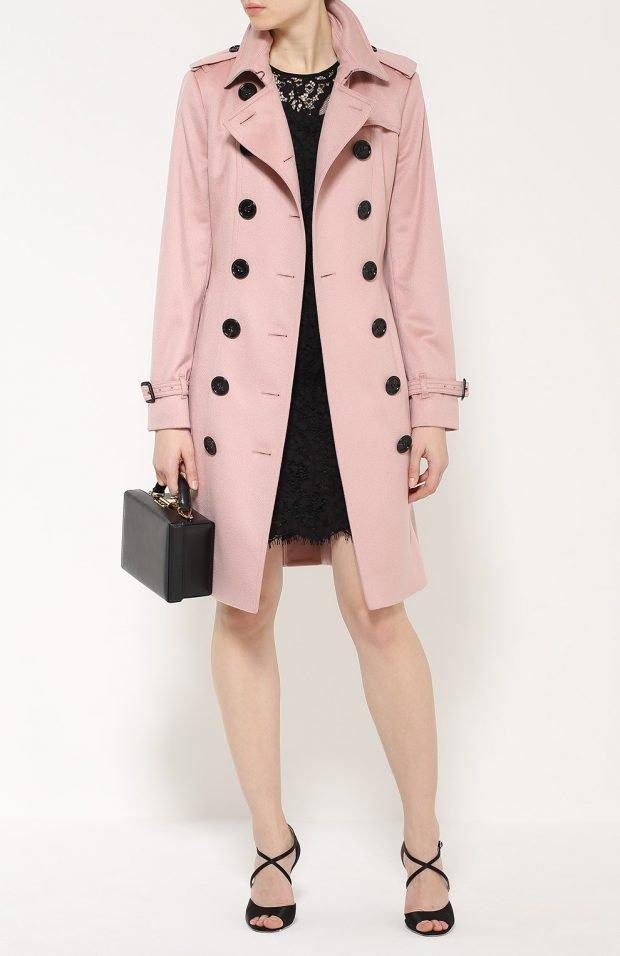 светло-розовый двубортный