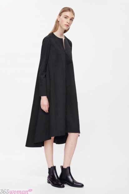 черное платье оверсайз