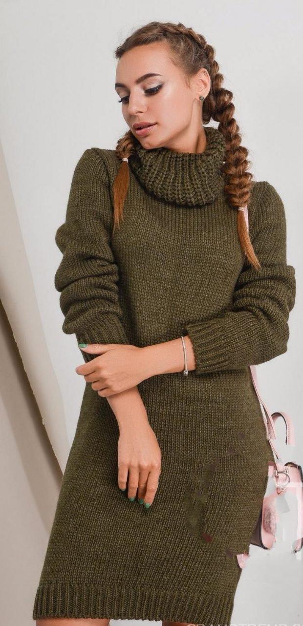 вязаное цвета хаки