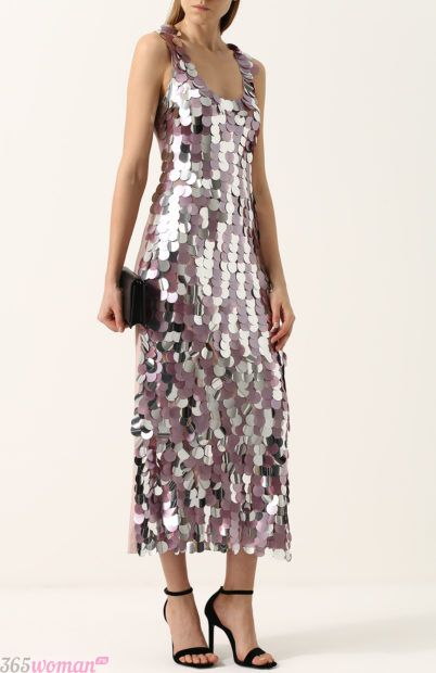 блестящее вечернее платье длинное
