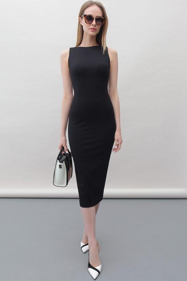 модные платья осень зима 2019 2020: черное классическое футляр