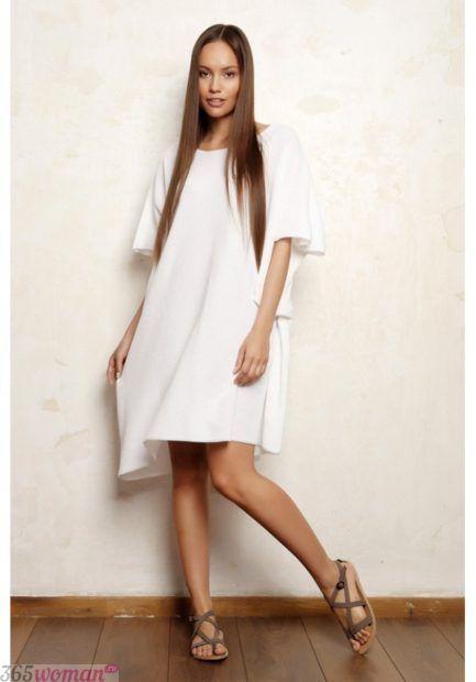 белое платье оверсайз