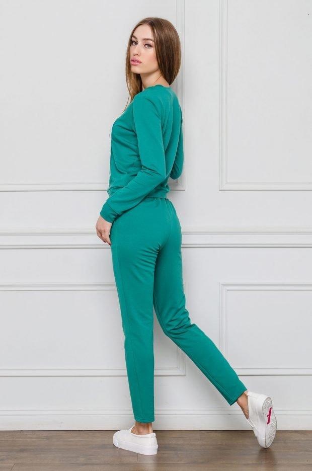 женские спортивные костюмы 2019 2020: в зеленом оттенке