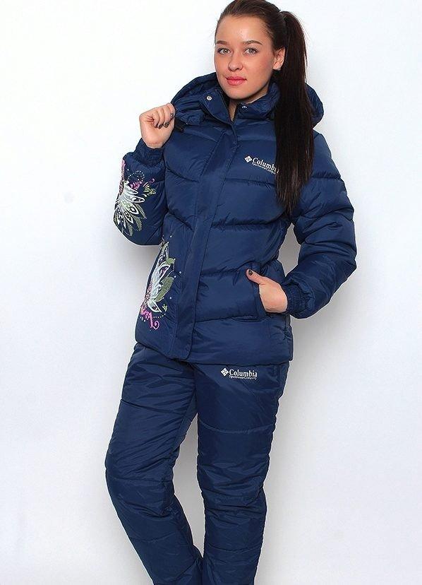 темно-синий спортивный костюм теплый